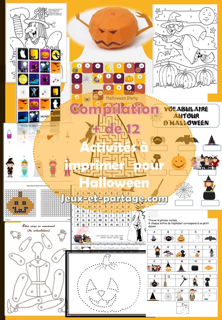 12 Activites Et Cahiers D Halloween Gratuits A Imprimer Pour Les Enfants Jeux Et Partage